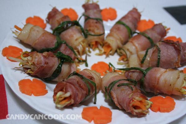 Lười lười làm thịt xông khói Bacon cuốn giá ^^