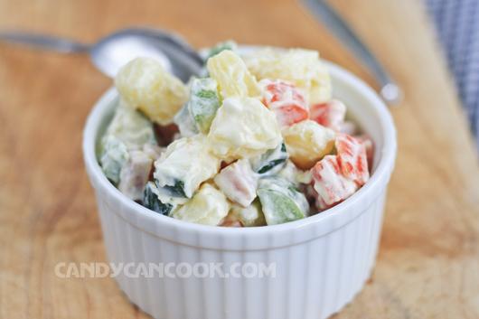 Bạn luôn có thể làm mới món Salad Nga của mình với những nguyên liệu ưa thích