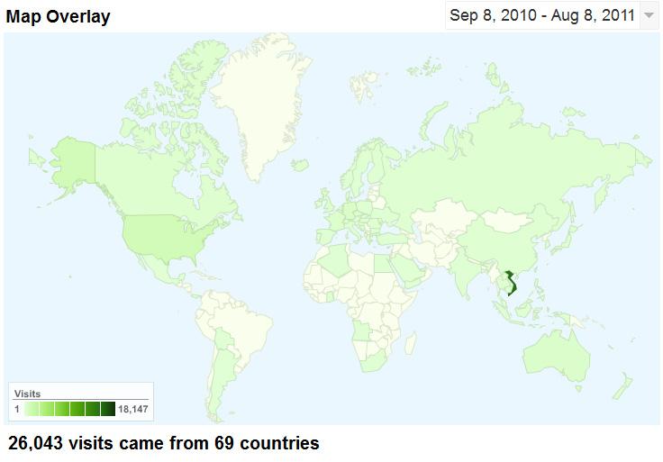 Bản đồ thống kê người xem