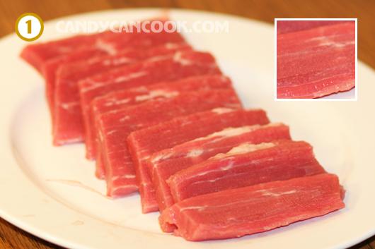 cách thái thịt bò khô