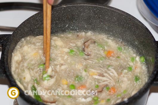 sup gà măng tây