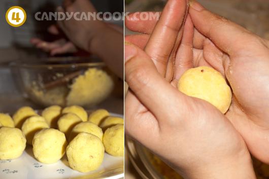 Cách nặn nhân bánh chè trôi nước