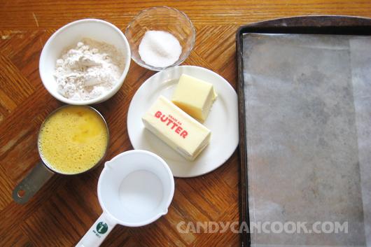 Nguyên liệu làm vỏ bánh su kem