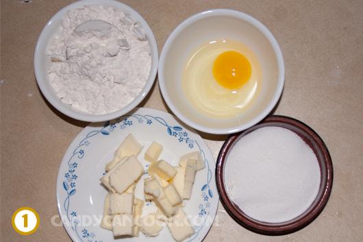 Các nguyên liệu làm đế bánh Fruit tart