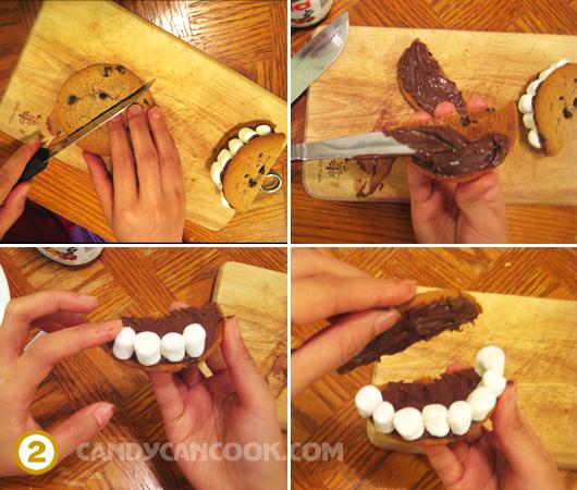 """Các bước làm bánh """"Nụ cười Halloween"""""""