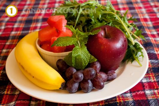 Ngần này rau và hoa quả sẽ dễ dàng được xử lý nhờ món sinh tố rau :)