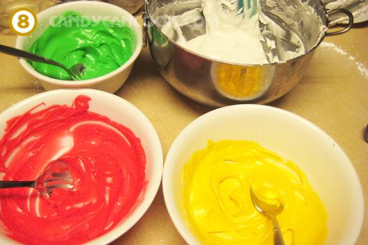 Pha màu cho kem royal icing