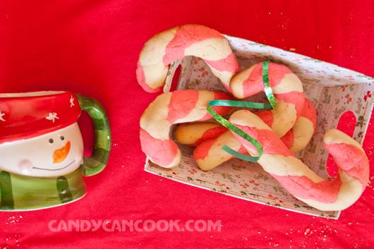 Món quà mang không khí Giáng sinh - Candy cane cookies