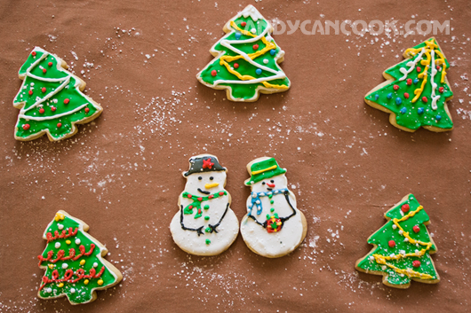 Tặng mọi người bánh quy đường - sugar cookies này ^^
