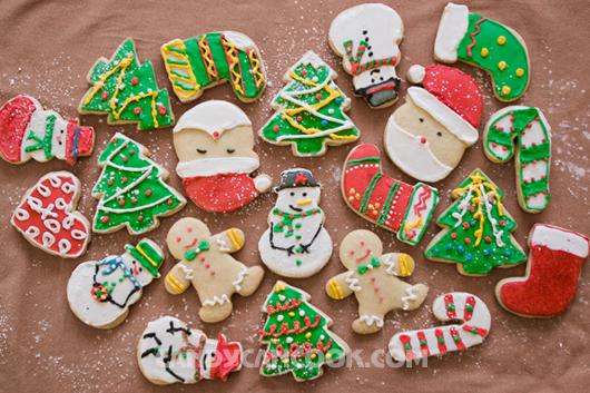 Thành phẩm sugar cookies đã được trang trí đây ^^