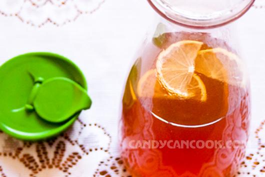 Chua mát vị trà chanh - iced lemon tea
