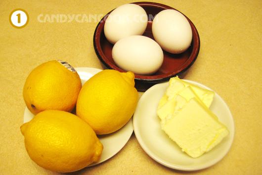 Chuẩn bị nguyên liệu làm lemon curd