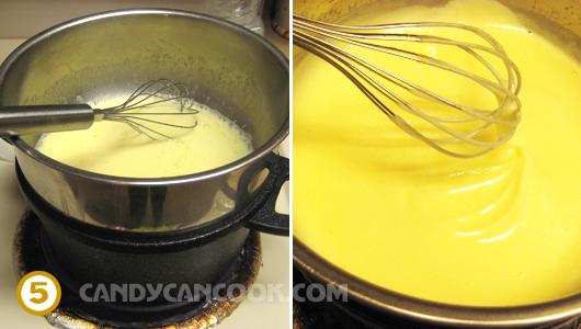 Nấu cách thủy lemon curd