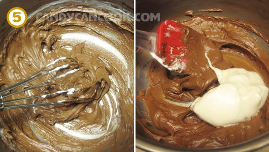 Trộn ba thành phần với nhau để hoàn thành Chocolate Mousse