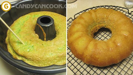 Kiểm tra bánh chín và để bánh nguội trên giá