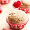 Muffins dâu tây chuối