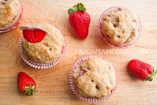 Các em muffins dâu chuối siêu hấp dẫn