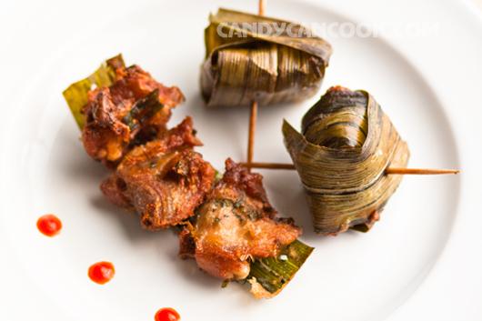 Gà cuốn lá dứa (Gai hoh bay toey) - một món rắt đặc biết của người Thái