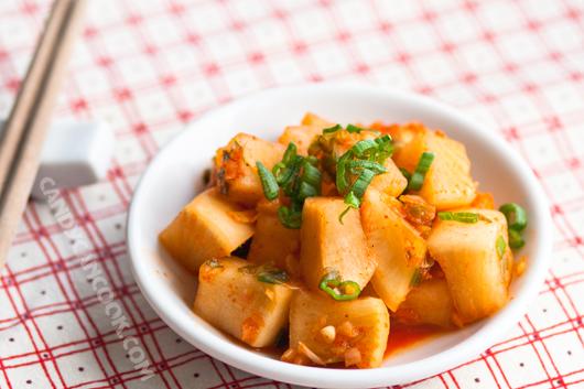 Kim chi củ cải đơn giản nhưng đầy màu sắc
