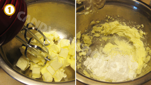 Đánh bơ cùng với đường và vanilla trước