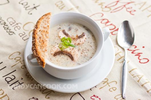 Súp kem nấm ăn nóng, nguồi hoặc ấm đều ngon :D