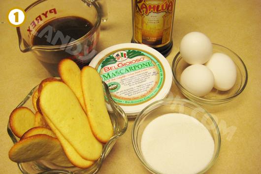 Nguyên liệu làm bánh Tiramisu