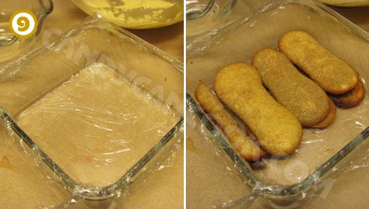 Cách xếp bánh Tiramisu vào hộp vuông đựng thức ăn