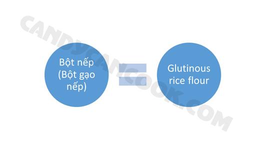 Bột nếp - Glutinous rice flour