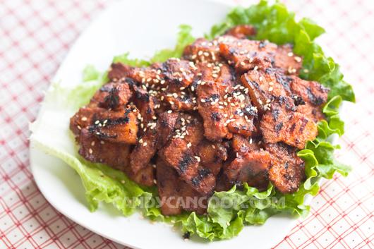Tứa nước miếng với đĩa thịt nướng kiểu Hàn Quốc :X