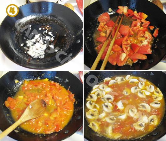 Cách nấu sốt cà chua nấm