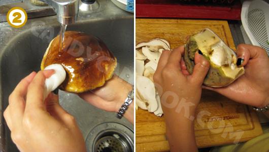 Cách rửa làm sạch nấm