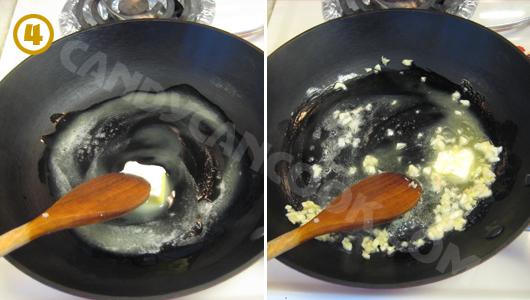Phi tỏi với với bơ (hoặc đầu ăn)