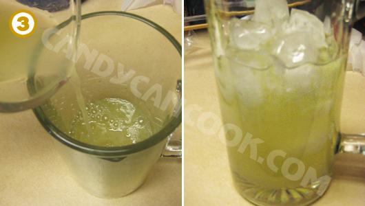Pha nước cốt chanh, nước si-rô đường và nước lọc