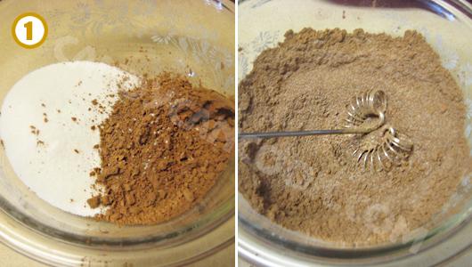 Đong và trộn các nguyên liệu khô đều
