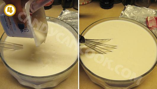 Đỗ sữa chua men vào rồi đánh đều