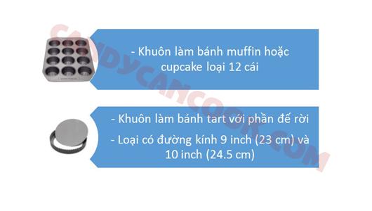 Các loại khuôn bánh cơ bản (basic baking pans)
