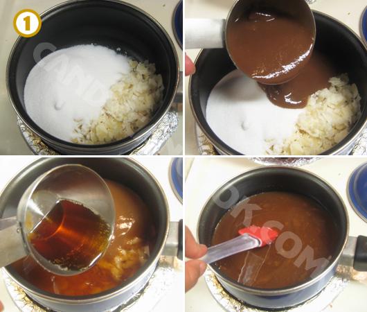 Chuẩn bị các nguyên liệu làm sốt Pad Thai