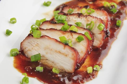 Thịt xá xíu thơm ngon với hương vị nước sốt tuyệt vời