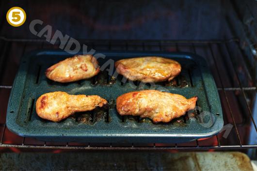 Nướng thịt trên khay có lỗ thông hơi