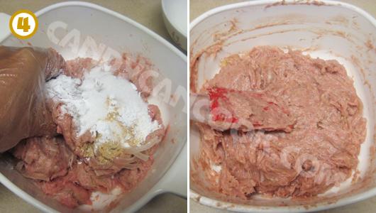 Trộn đều các nguyên liệu và bọc nem chua lại rồi cho vào tủ lạnh