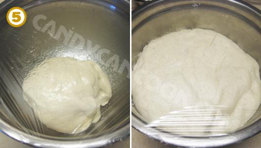 Ủ bột tới khi bột nở gấp đôi
