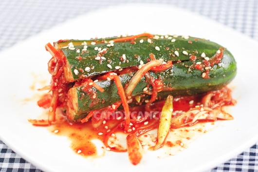 Kim chi dưa chuột đưa cơm với rất nhiều mùi vị