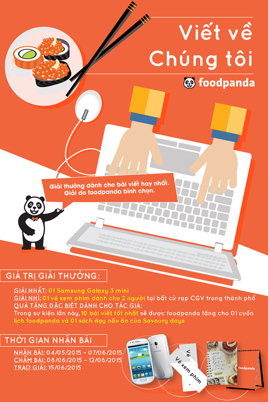 Thông tin chi tiết cuộc thi Viết cùng foodpanda