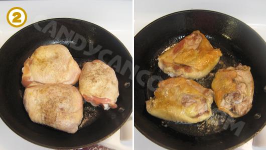 Rán gà vàng đều hai mặt