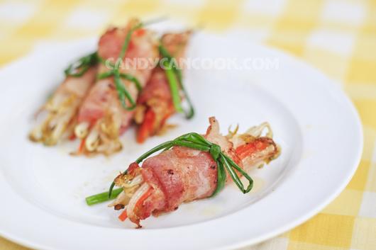 Mới mẻ nhưng đơn giản và hấp dẫn là Món thịt xông khói cuốn giá