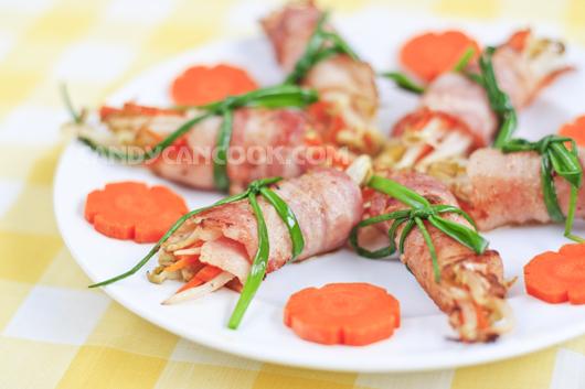 Nhìn đĩa thịt bacon giờ chẳng ngán tẹo nào mà thật hấp dẫn phải k ^^