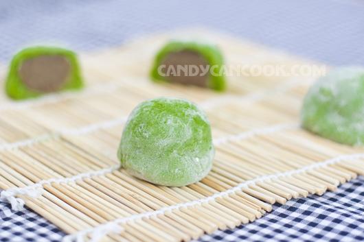 Tự làm bánh Mochi trà xanh rất đơn giản