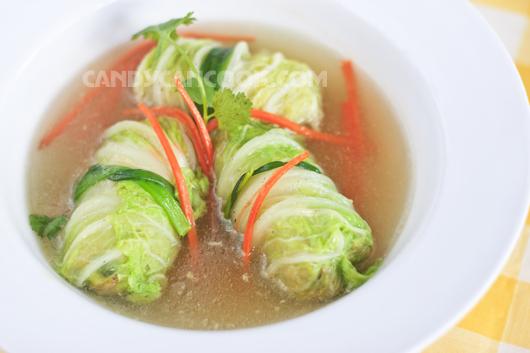 Cải thảo (bắp cải) cuốn thịt là sự kếp hợp nhịp nhàng giữa rau và thịt