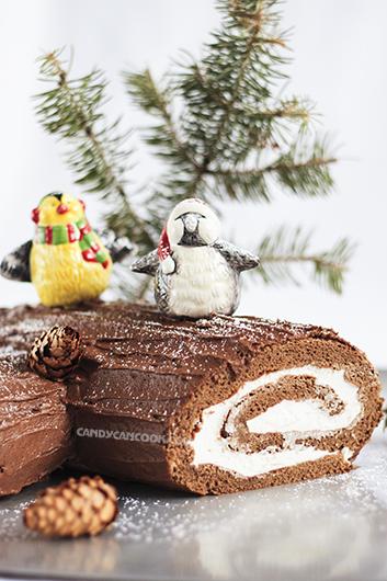 Bánh Yule Log (Buche De Noel) thoả sức sáng tạo :)
