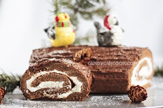 Nhìn như khúc gỗ nhưng lại là bánh cuộn sô-cô-la với kem tươi hấp dẫn